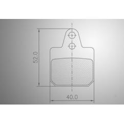 Plaquette de frein AR birel 13 / flandria