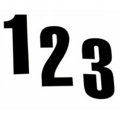 Numéro autocollant