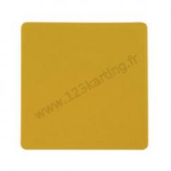 Plaque porte numéro jaune