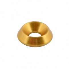Rondelle évasée or