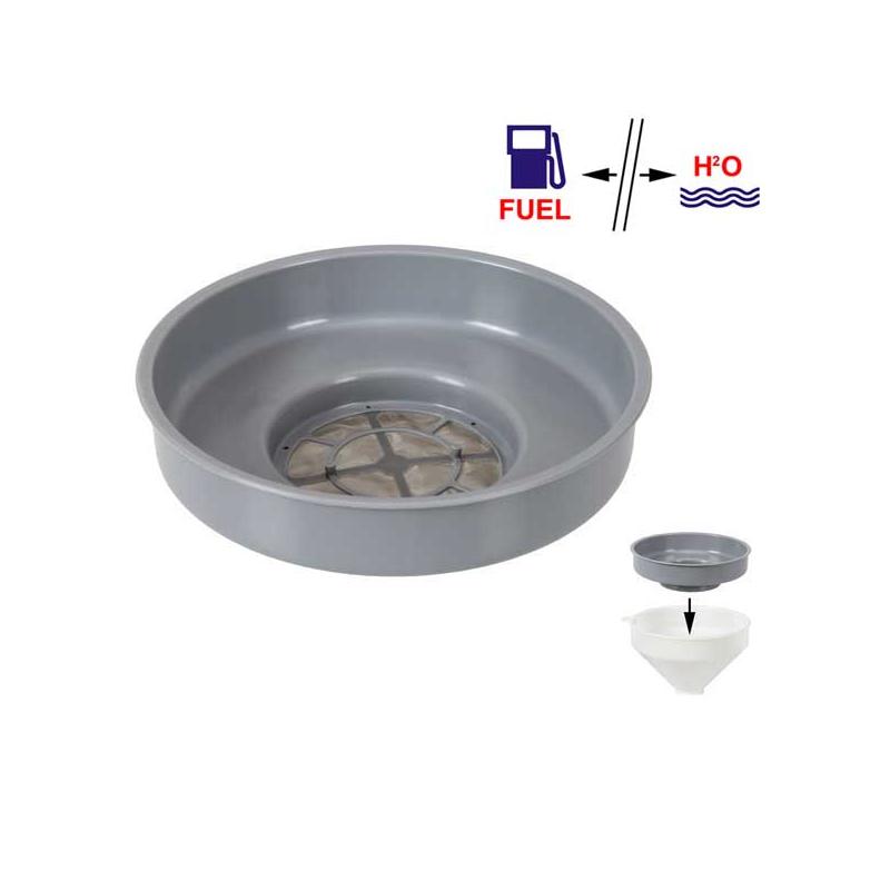 Filtre de séparation eau/essence pour entonnoir